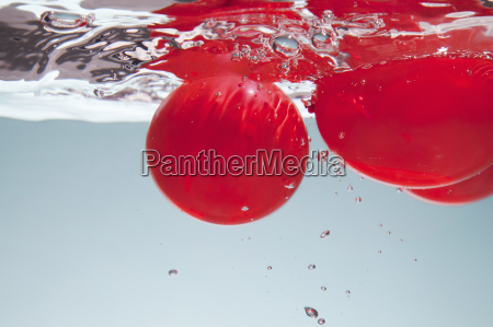 red circles in water