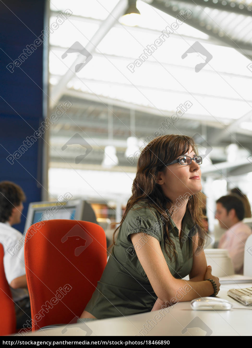 businesswoman, working, in, an, office - 18466890
