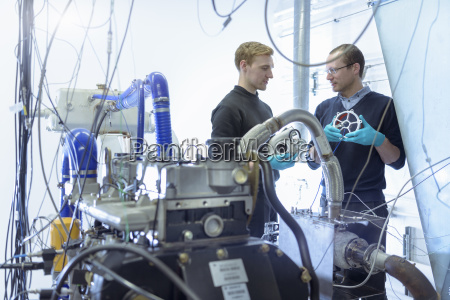 scientists in turbo charger automotive research