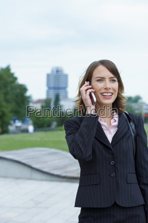 businesswoman on the mobile