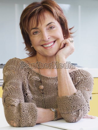 portrait of senior woman smiling