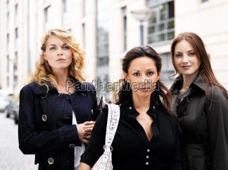 three women outdoors