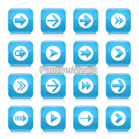 blue arrow sign rounded square icon
