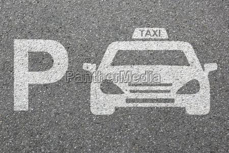 parking taxi car parking sign car
