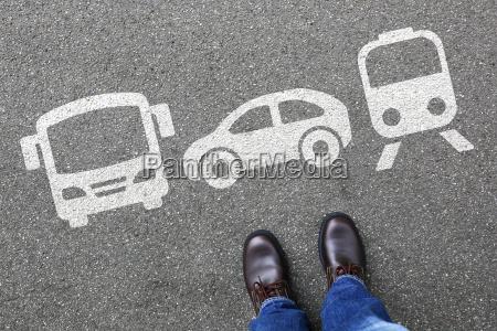 bahn zug auto bus mann mensch