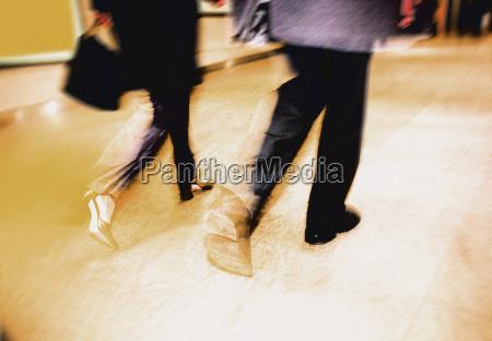 business couple walking