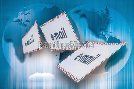 blau kommunikation wort technologie post versenden