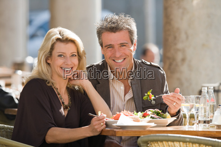 portrait of a couple dining