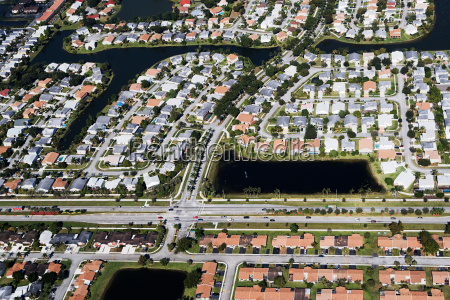 aerial view of houses on florida