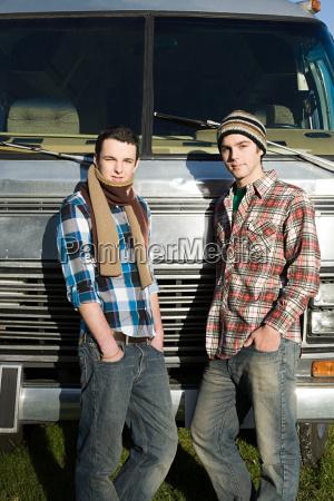 portrait of two teenage boys