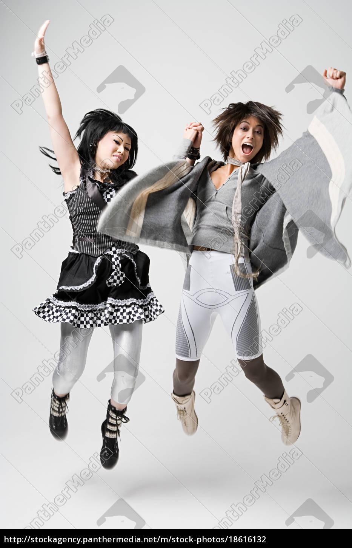 women, jumping, for, joy - 18616132