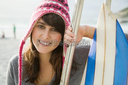 teenage girl wearing hat portrait