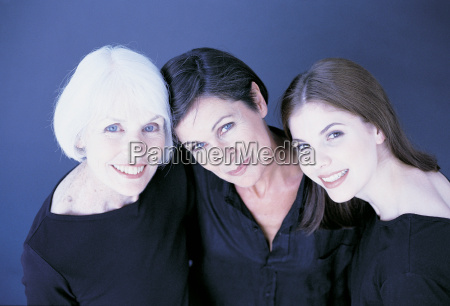 portrait of three female family members