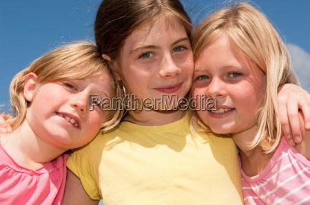 three girls portrait
