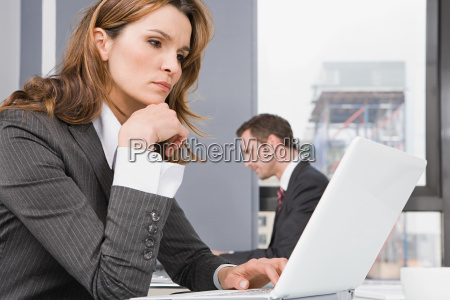 people in office