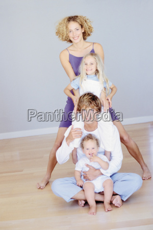couple with their two young children