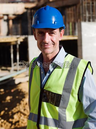 mature man on construction site portrait