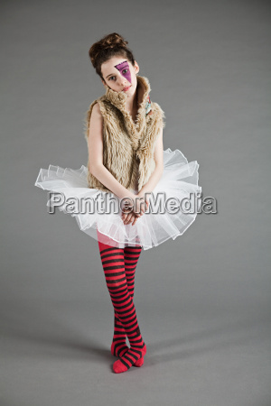 young girl dressed up in tutu