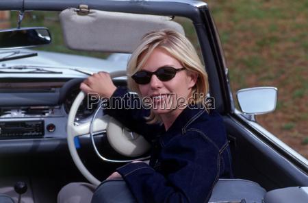 girl driving car