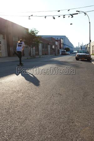 skateboarder on urban street