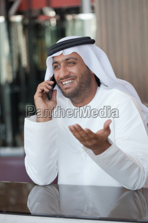middle eastern man on cellphone
