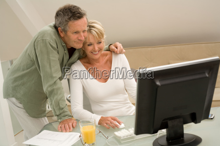 couple using computer