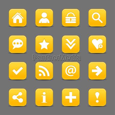 gelber satin symbol web taste mit
