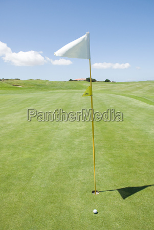 flag on a golf course