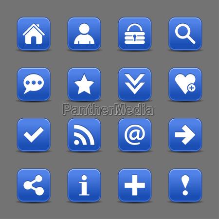 blaue satin symbol web schaltflaeche mit