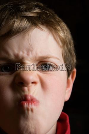 boy making a face