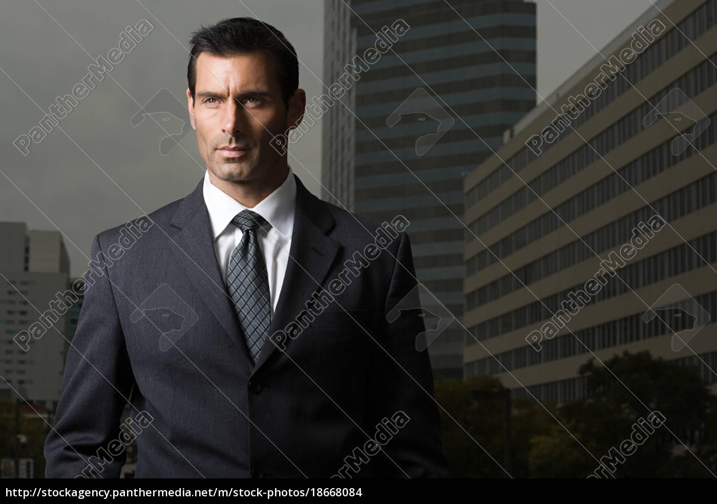 portrait, of, a, businessman, against, a - 18668084