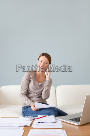 young woman on the phone with