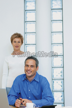 portrait of a man and woman