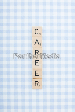 game tile letters spelling career