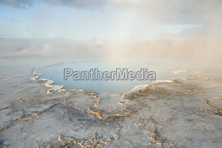 iceland hot springs of hveravellir nature