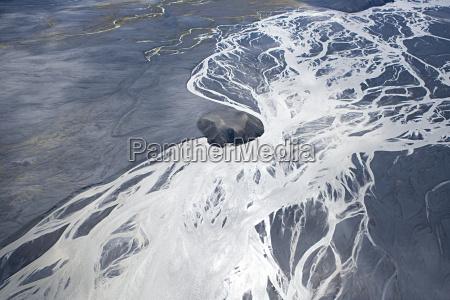 iceland jokulsa a fjollum glacial branching