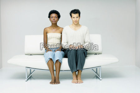 man and woman seated