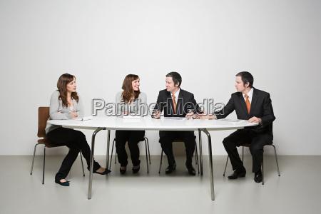 people having meeting
