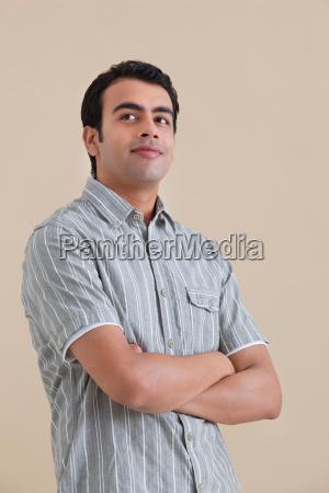 young man posing