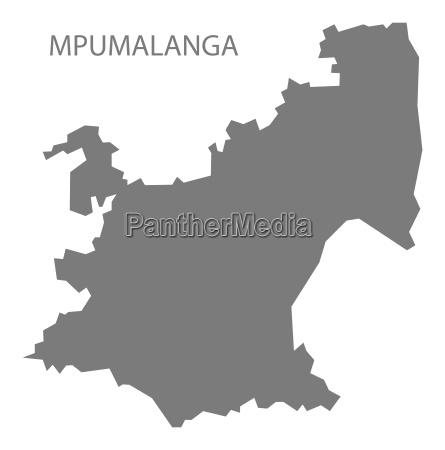 mpumalanga suedafrika karte grau