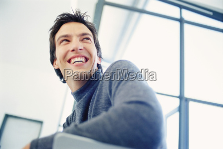 portrait of a laughing businessman