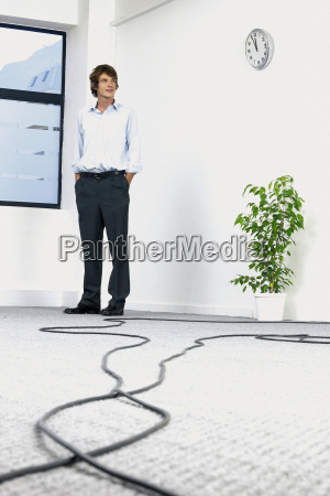 businessman in empty office