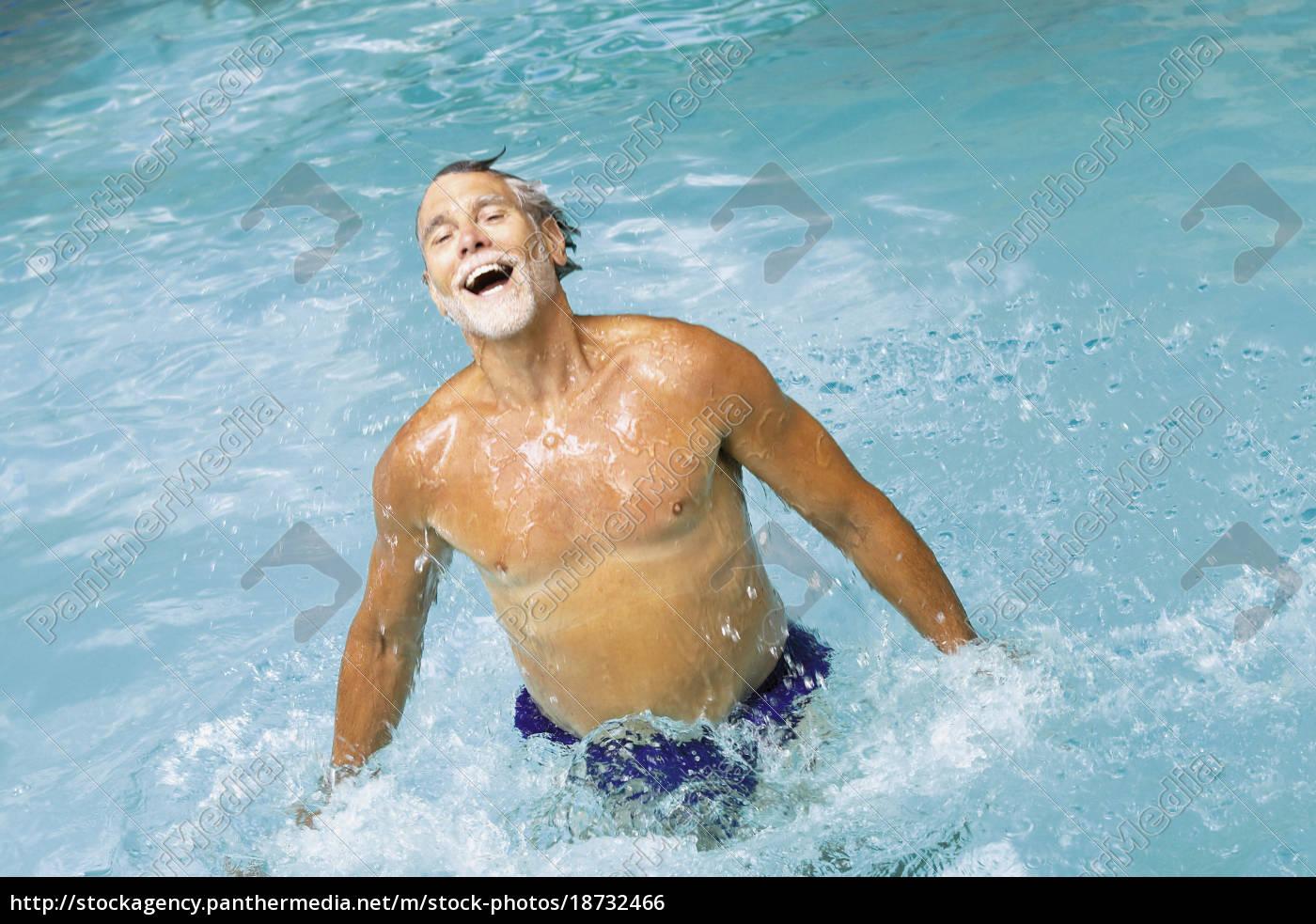 man, in, swimming, pool - 18732466