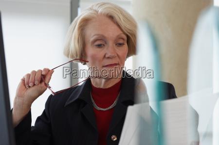 senior business woman at work