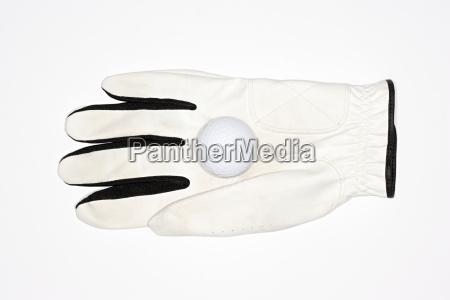 golf glove and golf ball