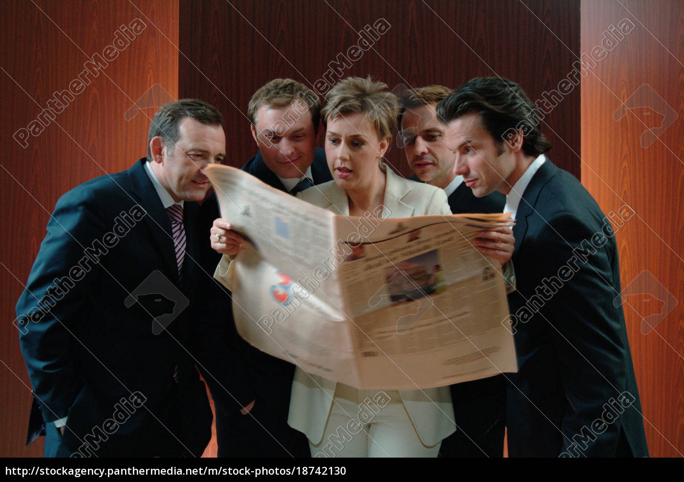 business, people, reading, paper - 18742130