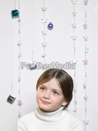 portrait of a child with christmas
