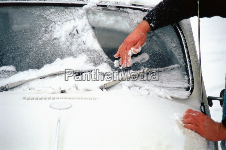 scraping ice off car window