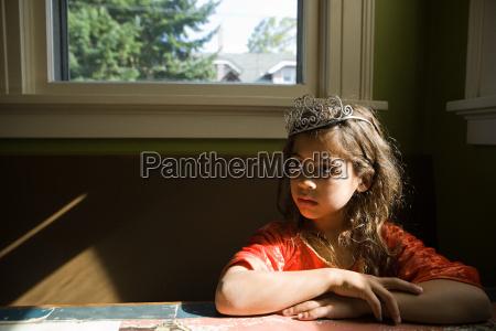 girl wearing tiara