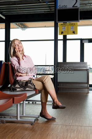 mid adult woman on the phone